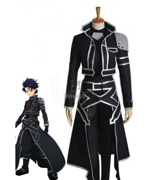 Sword Art Online Kirito Cool Outfits Black Cosplay Costume