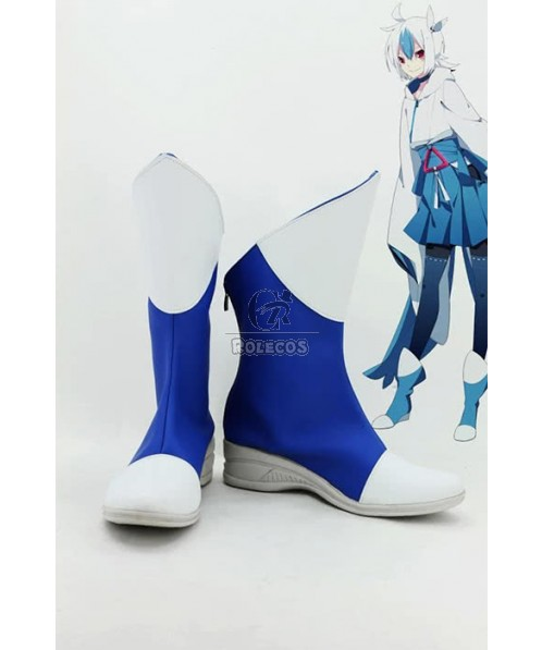 Pokemon Pocket Monster Anime Latias personate Cosplay Shoes Boots Blue