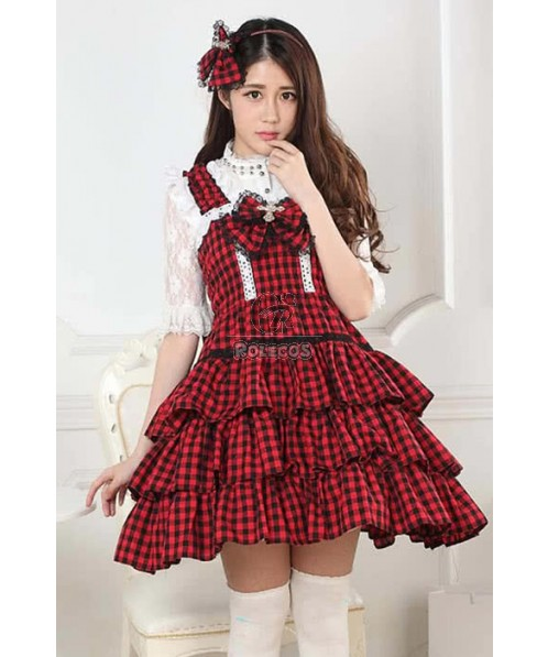 aristocrat retro lolita princess dress for ladies with long sleeves