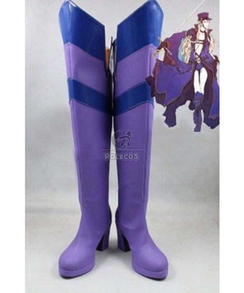 Hetalia: Axis Powers Sweden Anime Cosplay Shoes Customized  Long Boots
