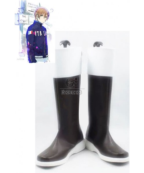 Hetalia: Axis Powers South Italy Anime Cosplay Shoes Customized  Long Boots