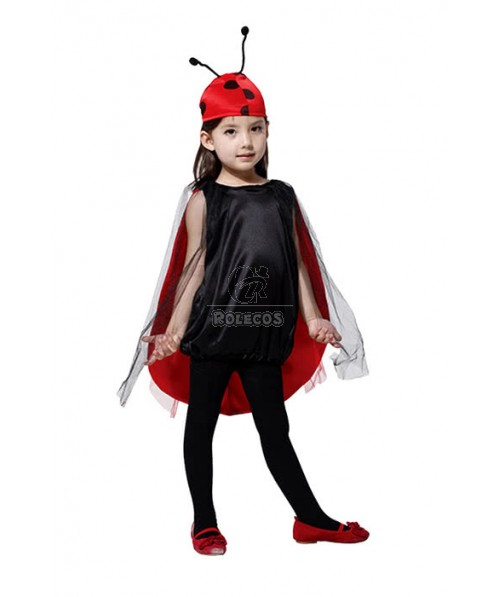 Halloween Children Cosplay Costumes Girls Lady Beetles Red Costumes