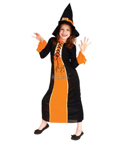 Halloween Children Girls Goethe Little Witches Long Dresses Cosplay Costumes