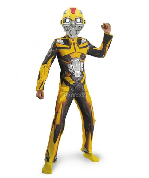 Halloween Transformers Bumblebee Children Boys Cosplay Costumes