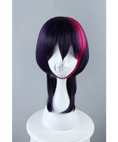 B-Project: Kodou*Ambitious Korekuni Ryuji Anime Cosplay Wigs Synthetic Medium Long Dark Purple Wigs