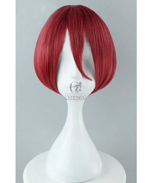 B-Project: Kodou*Ambitious Momotaro Onzai Anime Cosplay Wigs Synthetic Short Red Wigs