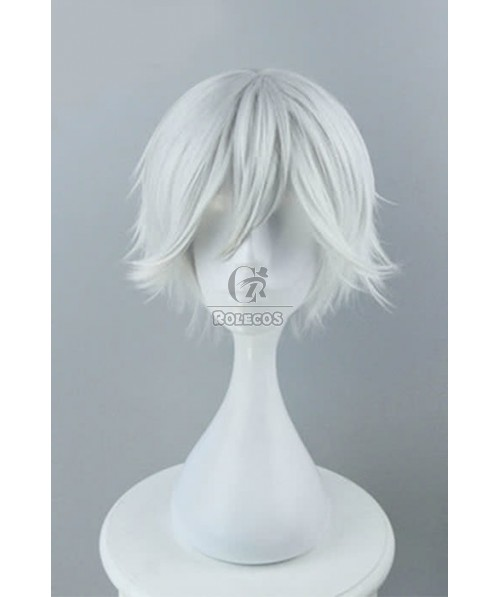 B-Project: Kodou*Ambitious Kitakado Tomohisa Anime Cosplay Wigs Synthetic Short Silvery White Wigs