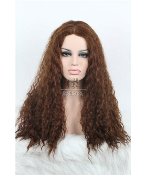 27'' 18/27# Long Curly Invisible Part Carve Curly Women Lace Closure Wigs