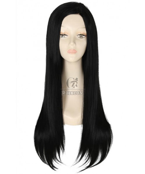 70cm Long Natural Black Straight Invisible Part Lace wig