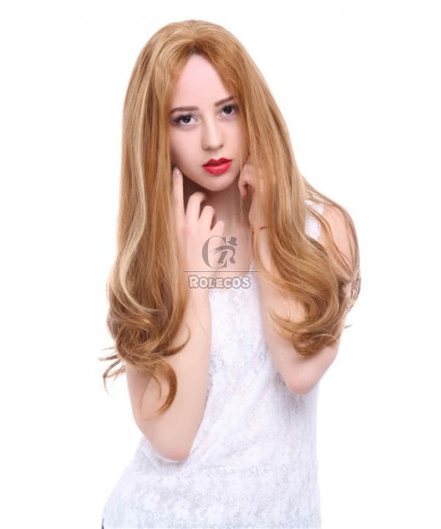 22 Inch Mix Color Brown and Blonde Lace Front Wig