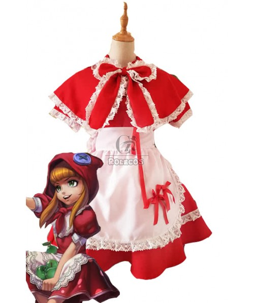 LOL Game Red Annie Perfect Restore Cosplay  Dress