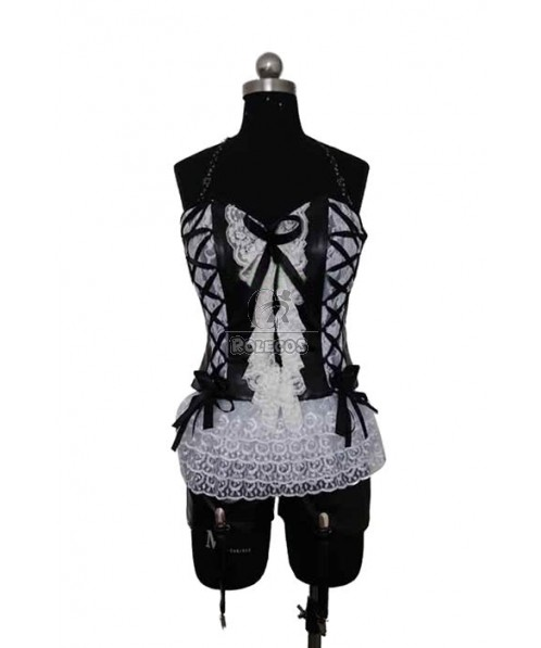 ZONE-00 Hime Shirayuri White Lace Cosplay Costume