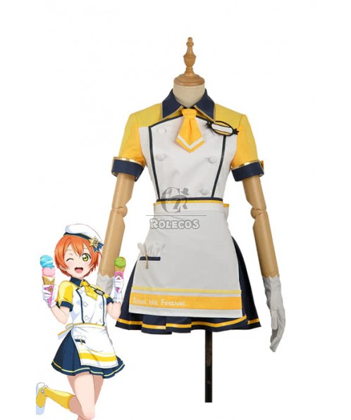Love Live Icecream Hoshizora Rin Anime Cosplay Costumes
