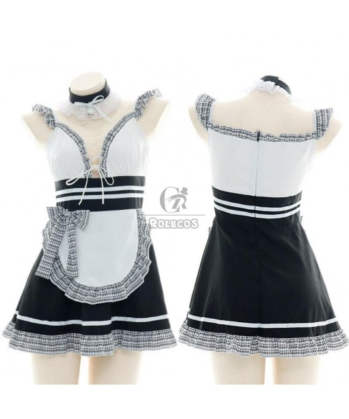 Maid Pierced Sexy Lingerie Cosplay Costume