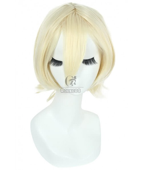 Alois trancy cosplay wig short straight beige