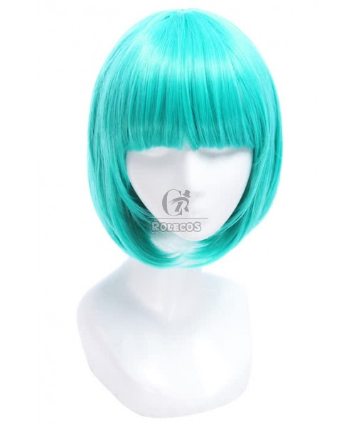 30cm Short Straight BOB Teal Green Cosplay Party Wig Girls Lovely Lady Gaga Wigs