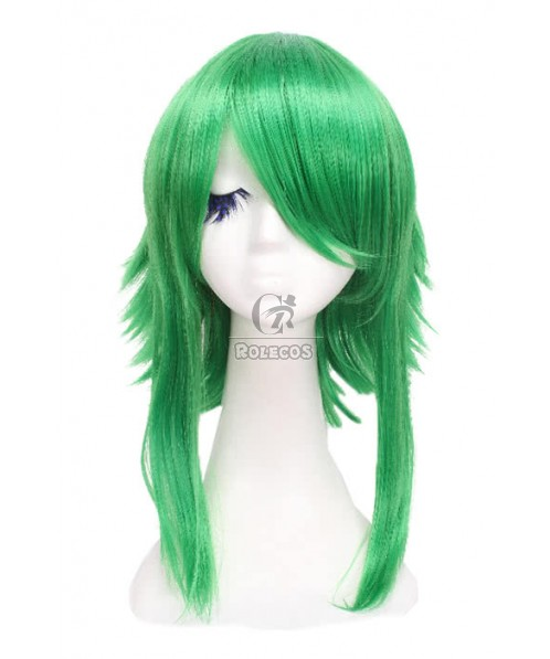 45cm medium straight green cosplay wig Vocaloid GUMI Synthetic anime hair