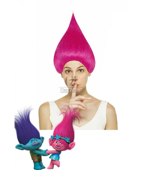 Movie Trolls Branch and Poppy 4 Colors Cosplay Hair Short Synthetic Cosplay Wigs