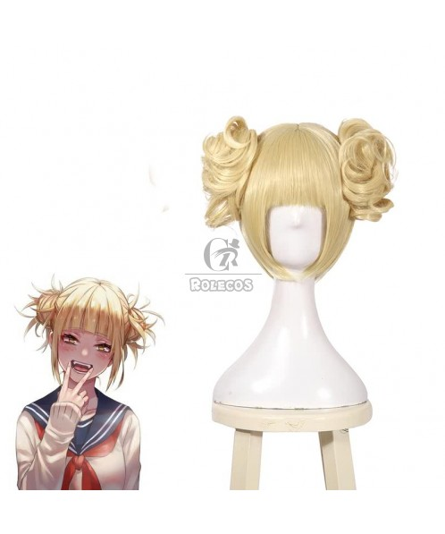 BNHA MHA Himiko Toga Short Blonde Anime Cosplay Wigs Hair Wigs JF271