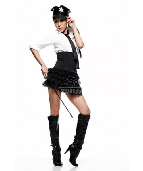 Instructors Policewoman Costumes Also Make Your So Attractive With A  Beautiful Skirt