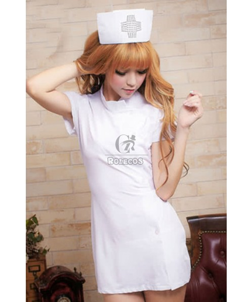 Hot Sexy Pink and White Uniform Temptation Nurses Cosplay Costume
