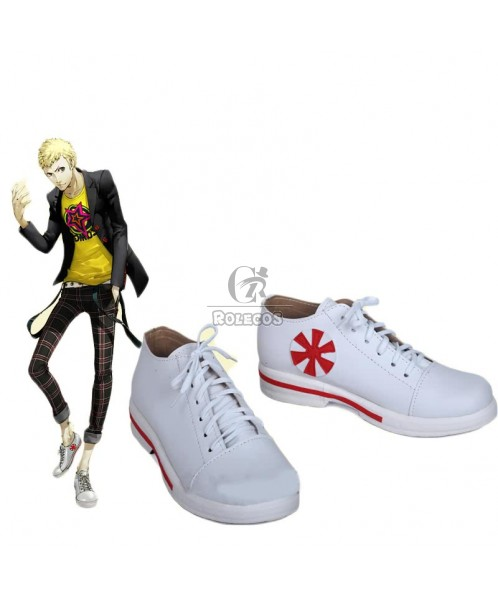 Persona 5 Skull White Sneakers Cosplay Shoes