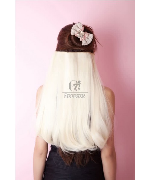 7 Colors Clip-In Straight Heat-Resistant Fiber Extension