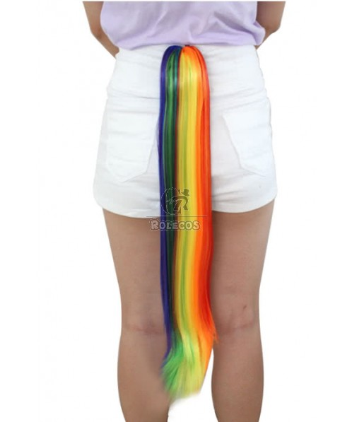 Rainbow My Little Pony Friendship Is Magic Claw On Cosplay Wigs Tail