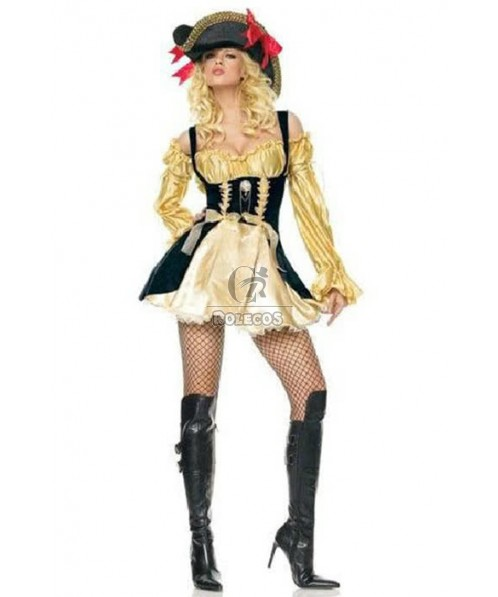 Sexy And Lovely Dress Pirate Of The Caribbean Cosplay Costume Hot Sale