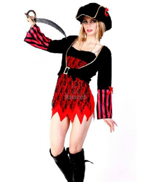 Hot Sale Lovely Charming Cosplay Suit Pirate Of The Caribbean For Woman