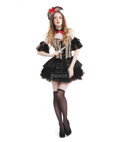 Midnightdoll Pirate Of The Caribbean Cosplay Costume Platinum Dress Noble pirates