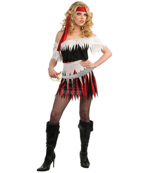 Sexy Female Adult Pirate Of The Caribbean Halloween Costume