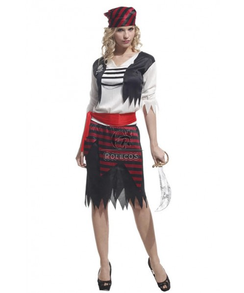 Crazy Female Pirate Of The Caribbean Halloween Costume Hot