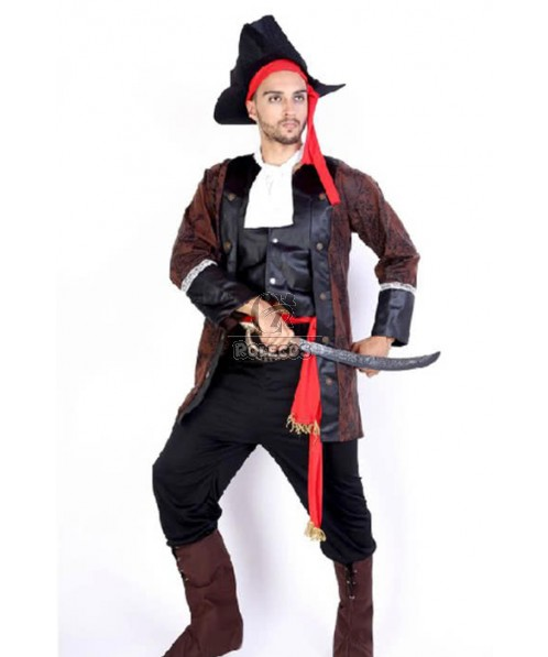 2015 New Arrvial Pirate Of The Caribbean Brown Suit Seven Piece