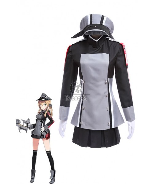 Kantai Collection Kancolle Amime Game Prinz Eugen Salor Uniform Cosplay Costumes