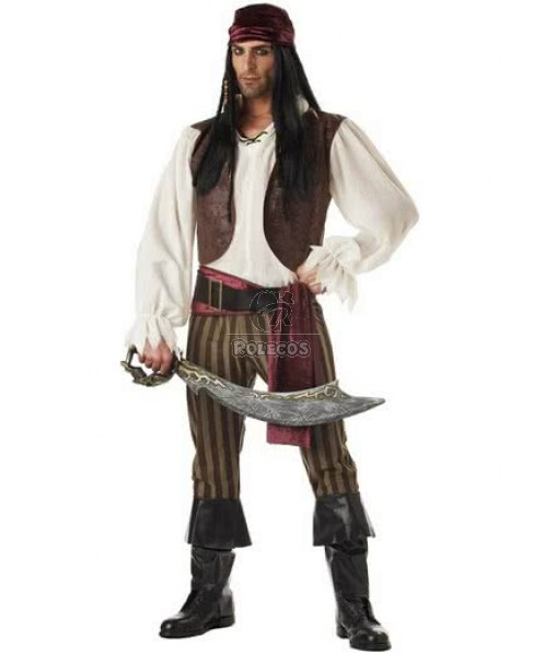 New Arrival Jack Sparrow Pirate Costumes Fancy Costume For Halloween