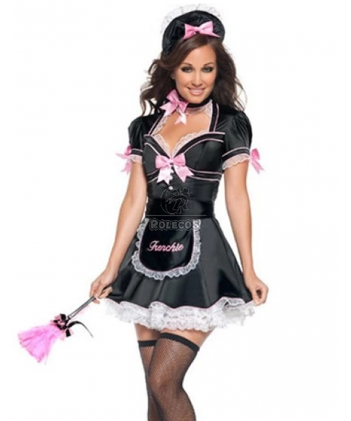 Hot Sale 2015 NEW French Maid Costume Sexy Uniforms  for Women