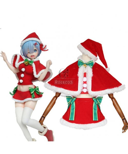 Re : Zero-Starting life in another World Rem Christmas Cosplay Costumes