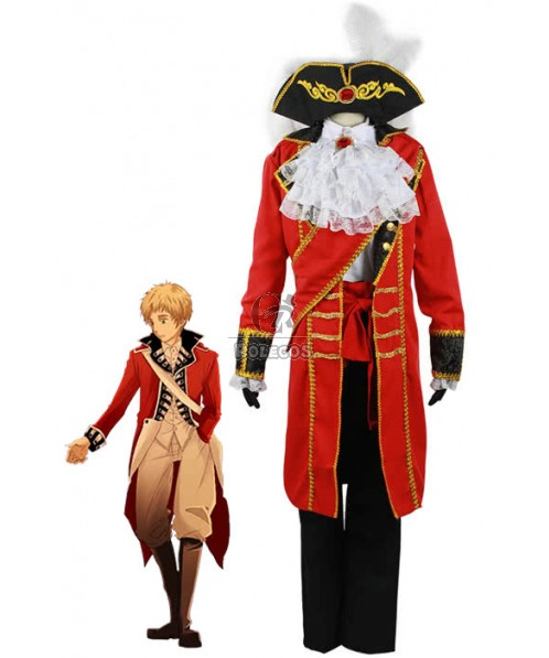 Red cool Arthur·Kirkland costume Axis powers popular cartoon cloth