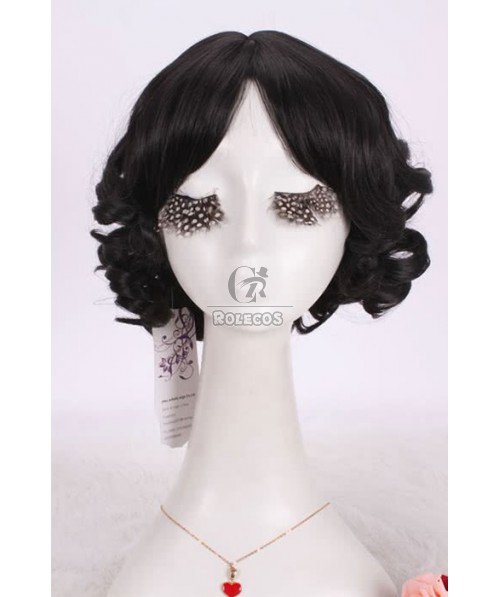 New 30cm New Styles Sweet Curly Bob in Black Short COS Party Hair Cosplay Wigs