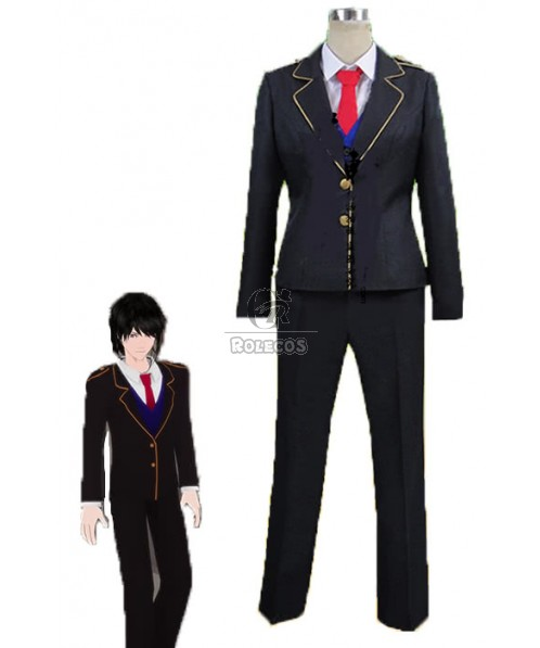 Jaune Arc Man Black School Uniform Cosplay Costume
