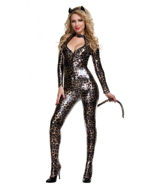 Leopard Print Catwoman Halloween Costumes for Sexy woman