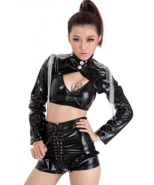 Black Sexy Racer Girl Costume Car Driver Suit For Women