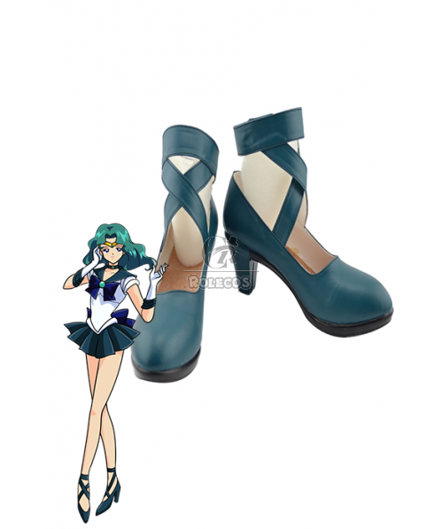 Sailor Moon Sailor Neptune Green Cosplay Shoes Boots Custome Customized
