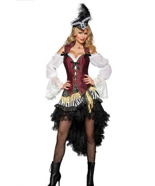 Pirates Caribbean Dress Halloween Costume Play Clothes Cosplay