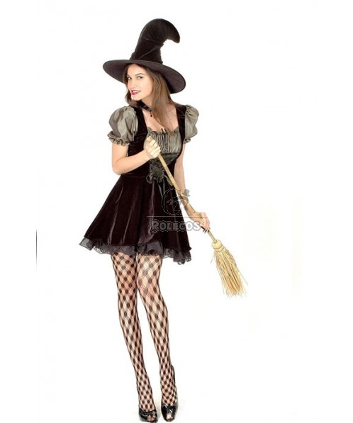 Sexy Lace Witch Dress Halloween Costumes