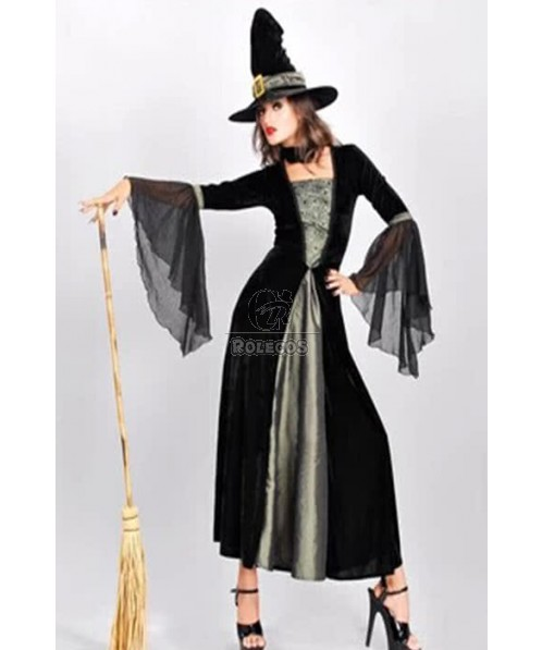 Sexy Long Witch Dress Halloween Costumes Cool Dress