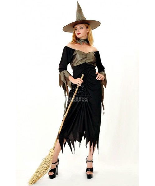 Black Witch Halloween Cosplay Cool Design