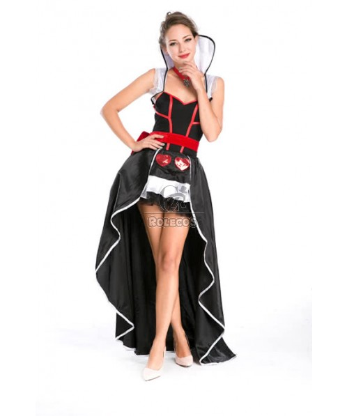 Vampire Fancy Dress Adult Halloween Costume With Big Bowknot