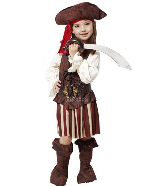 Kids Halloween Party Costume Pirates Of The Caribbean